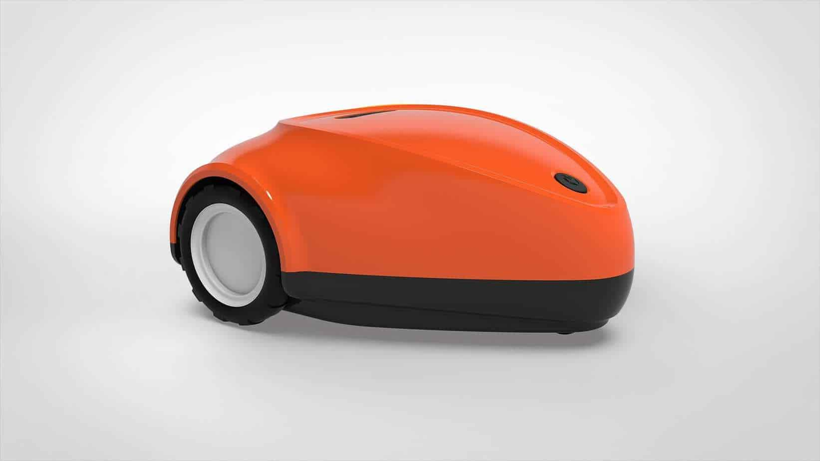 SmartMow gps robot lawn mower in orange