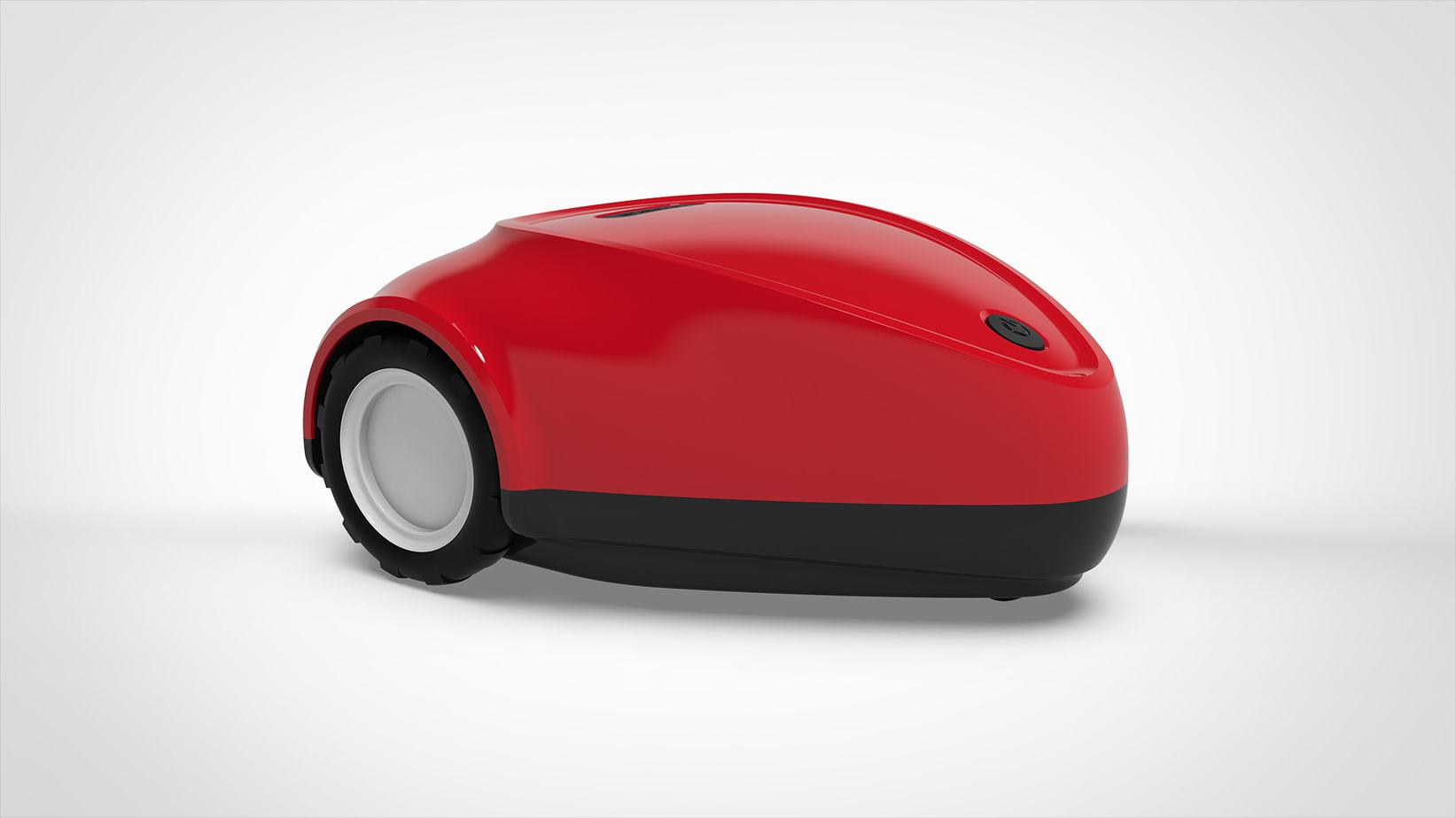 SmartMow robot lawn mower in red
